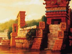 Backgrounds - The Road to El Dorado - Scott Wills (Dreamworks)