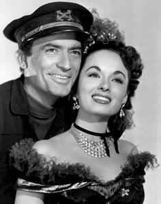 Gregory Peck & Ann Blyth for 'The World in His Arms' (1952)