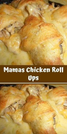 No matter how good I get at cooking, my mother will be better! She's always one step ahead of me, last weekend, she made us these chicken roll ups, I'm still imagining the taste in gerichte meat cuts dishes loaf recipes Meat Recipes, Crockpot Recipes, Cooking Recipes, Salad Recipes, Recipies, Slow Cooking, Chicken Roll Ups, Le Diner, Food Dishes