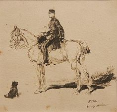 French Officer and His Horse Detaille, French Army, Horses, History, Warriors, Artist, Historia, Artists, Horse