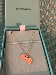 Tiffany OFF! Authentic Tiffany and Co. sterling silver double heart pendant necklace with silver and pink hearts comes in authentic Tiffany's packaging with original 16 in. sterling silver 16 in chain. Tiffany And Co Jewelry, Tiffany And Co Necklace, Tiffany Bracelets, Cute Jewelry, Jewelry Accessories, Chain Jewelry, Cute Couple Gifts, Cute Necklace, Pendant Necklace