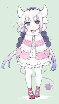 I love her shoes Kanna Kamui Anime Chibi, Lolis Anime, Anime Art, Loli Kawaii, Kawaii Anime Girl, Manga Girl, Anime Style, Kanna Kamui, Kobayashi San Chi No Maid Dragon