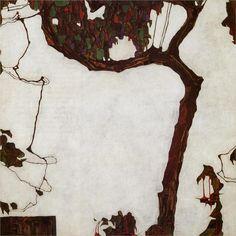 Autumn Tree with Fuchsias, 1909 by Egon Schiele