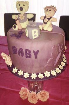 Choc Mudcake Baby Shower Cake