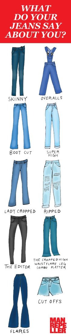 A personal journey of denim proportions. http://www.manrepeller.com/2015/03/what-your-jeans-say-about-you.html