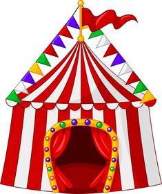 Tenda de circo dos desenhos animados iso...   Premium Vector #Freepik #vector #fundo #bandeira #quadro #convite