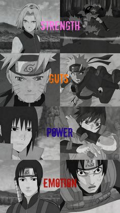 I really like this picture! It shows that anyone can change! For example, in Part 1, Sakura was a useless, obsessive fangirl, but in Part 2, she was actually quite useful! And when you initially meet Sai, he's emotionless. But when Deidara referred to Shin as a bomb, Sai got enraged, and allowed his emotions to show. Naruto had the guts to try and reach out to Sasuke, since he never wanted to give up on his friends. Sasuke wanted power, and he obtained it, although it was not without cost.