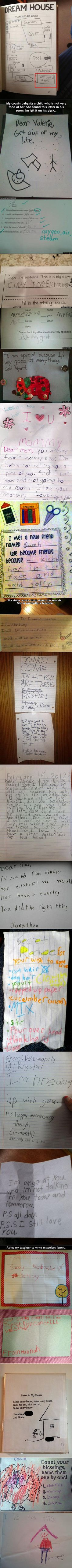 We have rounded up some funny and unusual, yet real, notes from geeky kids.