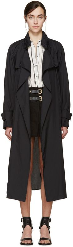 Isabel Marant for Women Collection Black Nylons, Isabel Marant, Trench, Duster Coat, Street Wear, Raincoat, Elegant, Chic, Jackets