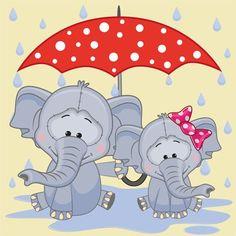 Cute animals and umbrella cartoon vector 05 Cartoon Cartoon, Kids Cartoon Characters, Cute Cartoon Animals, Cute Animals, Elephant Love, Elephant Art, Cute Images, Cute Pictures, Umbrella Cartoon