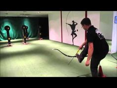 Archery trick shots: shooting with your foot