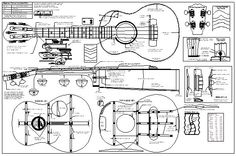 Gibson ES335 Jazz Guitar PLANS Full Scale How to Build