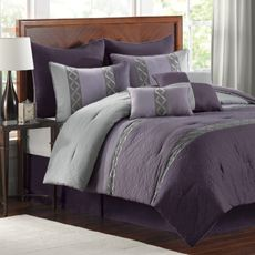 Plum Comforter Set Bed Bath Beyond Comforter Sets Bedding Shop Silver Orchid Niven 4 Piece P. Plum Comforter Set, Plum Bedding, Purple Bedding Sets, Full Comforter Sets, Purple Bedspread, Bedding Shop, Bedding Master Bedroom, Bedroom Sets, Bedroom Decor