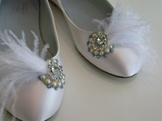 cute flats for the bride who doesn't want to wear heels, or wants something to change into. You even have your something blue with the blue crystals.