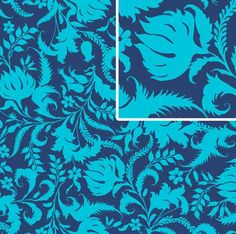 Amy Butler Fabric - Lark Ivy Bloom in Colbalt