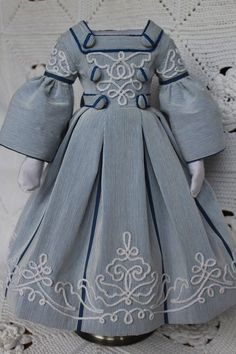 17 bids on eBay with one day to go: Beautiful dress for antique French fashion doll 18inch.(1860years)