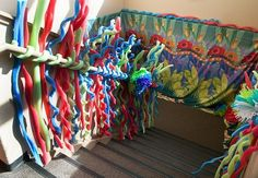 We hear you pool noodles! Well, at Weird Animals VBS everything is coming up pool noodles! We had pool noodle vines on the main set, pool noodle seaweed, pool noodle flowers! You name it-- we dolled it up with pool noodles! Submerged Vbs, Vbs Themes, Vbs 2016, Vbs Crafts, School Decorations, Hallway Decorations, Vacation Bible School, Animal Decor, The Little Mermaid