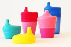 SipSnap silicone lids turn any cups or glasses you have into sippie cups or straw cups.