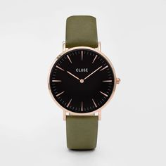 La Bohème Rose Gold Black/Olive Green CL