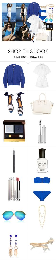 """""""Clear Blue"""" by brownish ❤ liked on Polyvore featuring Acne Studios, T By Alexander Wang, Zamagni, Givenchy, Tom Ford, MAC Cosmetics, Deborah Lippmann, Christian Dior, Lisa Marie Fernandez and Victoria Beckham"""