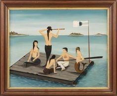 Mermaid Paintings, Mermaid Art, Merfolk, 2d Art, Rafting, Cape Cod, Mermaids, Folk Art, Sailor