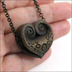 Folded Heart Bead by Eugena777, via Flickr