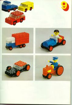 LEGO 222 Building Ideas Book instructions displayed page by page to help you build this amazing LEGO Books set Lego Duplo, Lego Basic, Vintage Lego, Lego Design, Lego Activities, Craft Activities For Kids, Lego Autos, Lego Books, Lego Club
