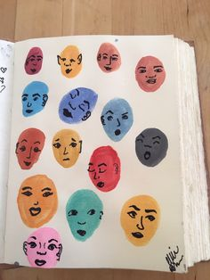 Ways to fill a sketchbook. I painted the heads with watercolor and used a sharpie to draw the faces. Ways to fill a sketchbook. I painted the heads with watercolor and used a sharpie to draw the faces. Art Inspo, Art Journal Inspiration, Art Du Croquis, Arte Sketchbook, Sketchbook Ideas, Sketchbook Project, Art Diary, Art Design, Aesthetic Art