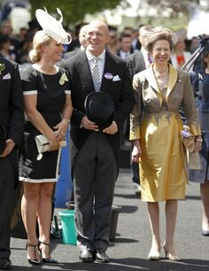 Zara Phillips, Mike Tindall and Princess Anne, The Princess Royal attend Day 1 of Royal Ascot 2014
