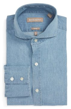 Michael Bastian Trim Fit Chambray Shirt