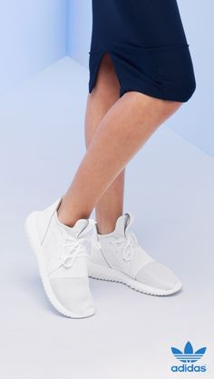Treat yourself to a crisp white pair of brand-new Tubular adidas Originals this season. Let the laid-back, athletic look of these shoes fuel your spring and summer style inspiration. Tubular will keep challenging and redefining the intersection between fashion and sport.