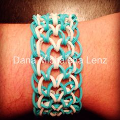 Rainbow loom dragon scale cuff
