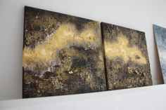 Abstract and materic art. Stucco and acrylic colors on canvas. #abstract #art #materic #gold