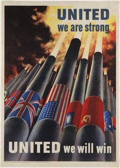 US WWII Poster - United we are strong