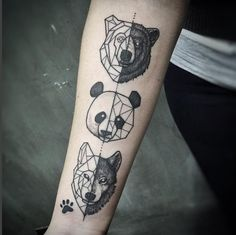 Lovely Half Geometric Animal Tattoo by Lucas Martinelli at Estúdio Tattoo Ink in Brazil • /r/tattoos