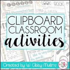 This is a zip file that includes a new, made-over activity pack AND the former pack. Check out the preview to see the new activities and descriptions of the 20 activities included within.