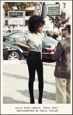 Julia Sarr-Jamois, Paris 2011, Photographed by Phill Taylor #fashion #style