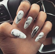 Trending now: marbled nails!