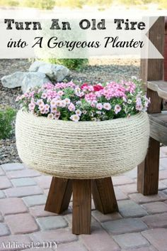 Spruce up your garden with these cheap and easy DIY garden ideas. From DIY planters to container gardening ideas, there are plenty of garden projects on a budget to choose from. Garden Crafts, Garden Projects, Diy Crafts, Recycled Crafts, Container Gardening, Gardening Tips, Organic Gardening, Plant Containers, Flower Gardening