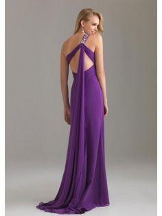 A-line Solo Hombro Abalorio Floor-length Gasa Party Dresses por €330,19