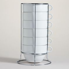 One of my favorite discoveries at WorldMarket.com: Stacking Jumbo Mugs Sets of 6