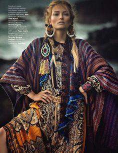 Olga Maliouk in Etro for Glamour Italia Oct '14 - via The Style Council