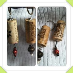 Recycled cork keychains