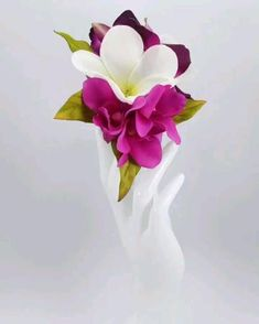 Created with Real Touch and silk orchids and Plumeria in silver hair Comb. Flower Headpiece, Wedding Hair Flowers, Wedding Veils, Flowers In Hair, Silk Flowers, Wedding Bouquets, Silk Orchids, Dendrobium Orchids, Purple Orchids