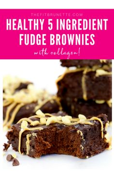Five ingredient brownies may be the definition of heaven. I don't know about everyone else, but I LOVE chocolate. Like, I literally eat chocolate in some form Paleo Dessert, Healthy Dessert Recipes, Healthy Baking, Paleo Mug Cake, Paleo Cookies, Paleo Fudge, Brownie Recipes, Sugar Free Desserts, Fun Desserts
