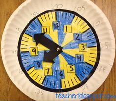 Colored Clock and great post about the misconceptions that it helps address. Teacher Blog Spot