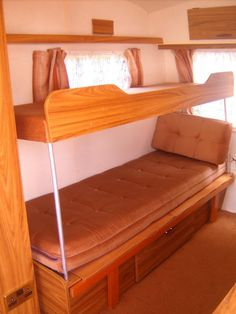 Camper Remodel With Bunk Beds Camper Ideas Remodeled
