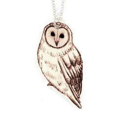 Image of Barn Owl Necklace Owl Necklace, Handmade Jewelry, Barn, My Style, Pickle, Accessories, Beautiful Things, Stationery, Designers