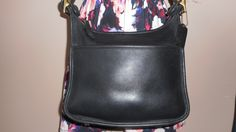 "Vintage COACH 11"" x10"" Black Leather Shoulder Bag D8D-9966 USA by COACHCROSSING on Etsy"