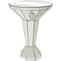 Give your seating area a touch of glamorous shine with the Elk Lighting Mirrored Side Table . The engineered wood side table features a classic pedestal. Mirrored Accent Table, Mirrored Side Tables, Round Accent Table, Accent Tables, Glass Furniture, Mirrored Furniture, Crystal Furniture, Luxury Furniture, Furniture Ideas